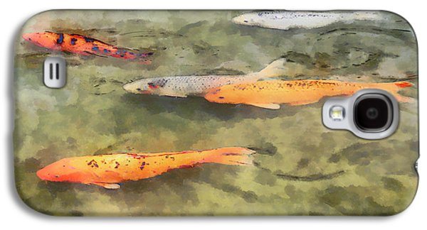 Fish Pond Galaxy S4 Cases - Fish - School of Koi Galaxy S4 Case by Susan Savad