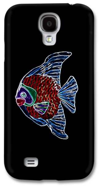 Aquatic Mixed Media Galaxy S4 Cases - Fish Tales Galaxy S4 Case by Shane Bechler
