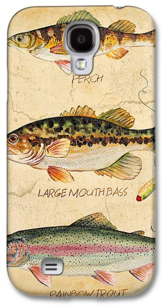 Fish Trio-b Galaxy S4 Case by Jean Plout