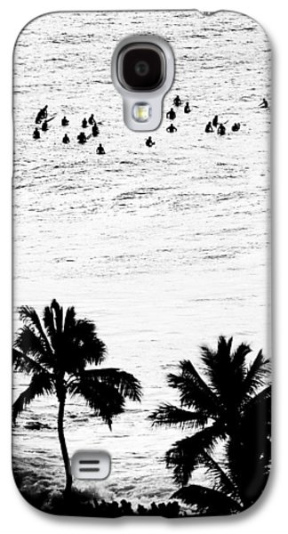 Surf Silhouette Galaxy S4 Cases - Fisher Palms Galaxy S4 Case by Sean Davey
