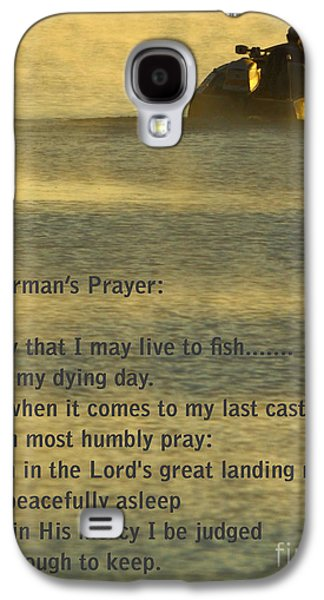 Walleye Galaxy S4 Cases - Fishermans Prayer Galaxy S4 Case by Robert Frederick