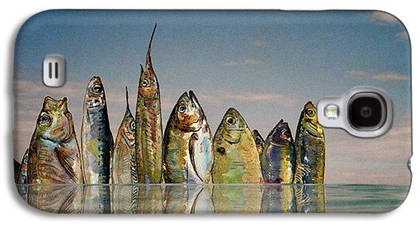 Skylines Paintings Galaxy S4 Cases - Fishhattan Galaxy S4 Case by Juan  Bosco
