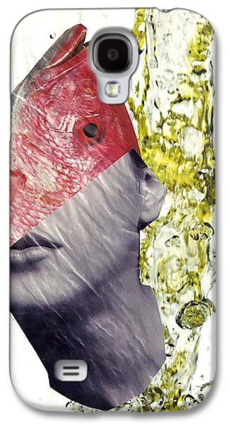 Avant Garde Mixed Media Galaxy S4 Cases - FishHead Galaxy S4 Case by Sarah Loft