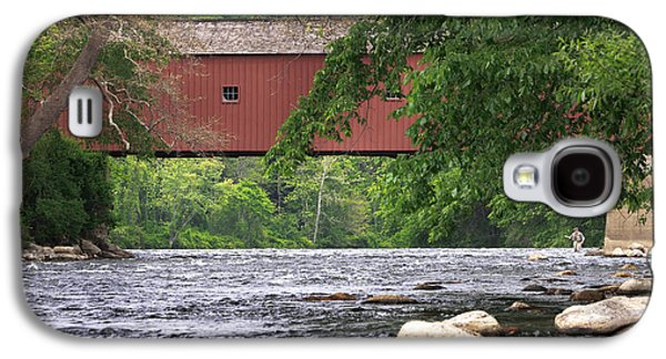Connecticut Landscape Galaxy S4 Cases - Fishin Galaxy S4 Case by Bill  Wakeley