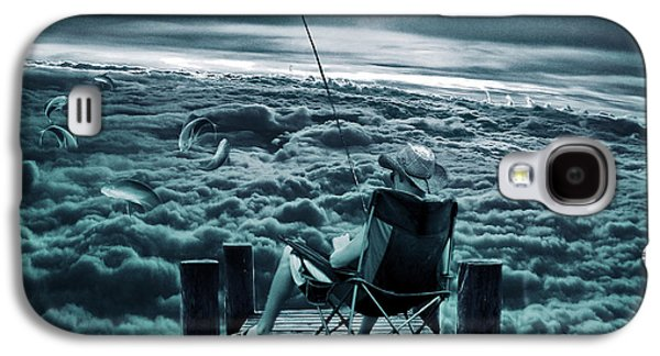 Fishing Above The Clouds Galaxy S4 Case by Marian Voicu