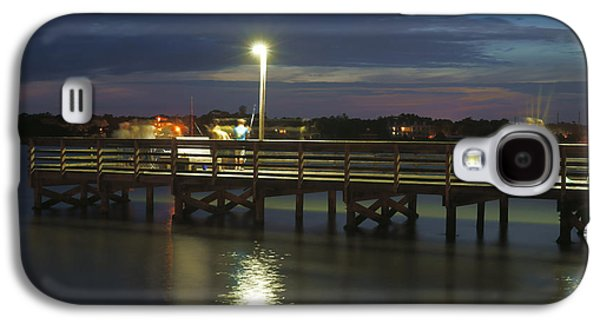 Park Scene Digital Galaxy S4 Cases - Fishing at Soundside Park in Surf City Galaxy S4 Case by Mike McGlothlen