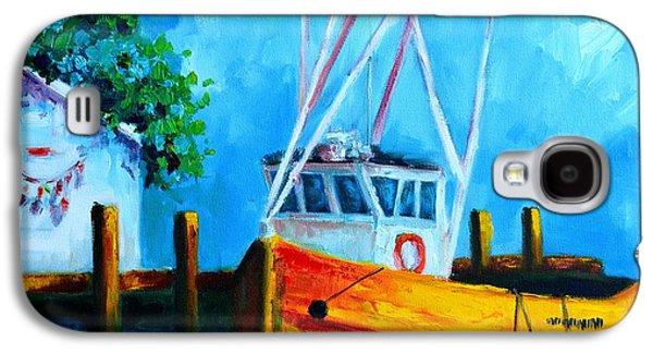 Boats At Dock Galaxy S4 Cases - Fishing Boat at Pier 39 Galaxy S4 Case by Patricia Awapara