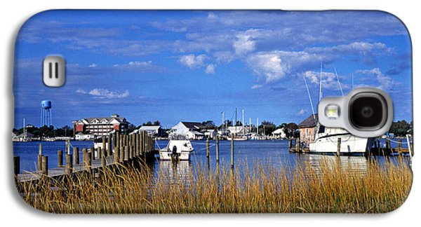 Boats At Dock Galaxy S4 Cases - Fishing Boats at Dock Ocracoke Island Galaxy S4 Case by Thomas R Fletcher