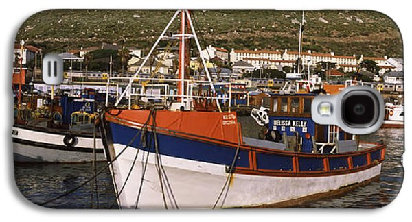 Fishing Village Galaxy S4 Cases - Fishing Boats Moored At A Harbor, Kalk Galaxy S4 Case by Panoramic Images