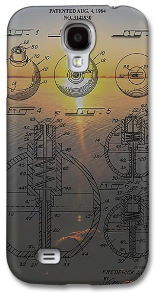 Gear Mixed Media Galaxy S4 Cases - Fishing Float Patent Sunrise Galaxy S4 Case by Dan Sproul