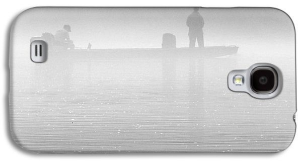 White River Galaxy S4 Cases - Fishing in the Fog Galaxy S4 Case by Mike McGlothlen