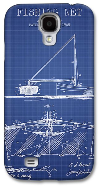 Reeling Galaxy S4 Cases - Fishing Net Patent from 1905- Blueprint Galaxy S4 Case by Aged Pixel