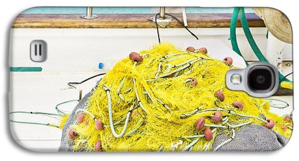 Aquatic Galaxy S4 Cases - Fishing net Galaxy S4 Case by Tom Gowanlock