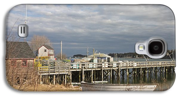 Bouys Galaxy S4 Cases - Fishing Pier and Rowboat in Tenants Harbor Maine Galaxy S4 Case by Keith Webber Jr