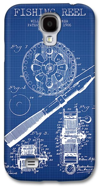 Reeling Galaxy S4 Cases - Fishing Reel Patent from 1906 - Blueprint Galaxy S4 Case by Aged Pixel
