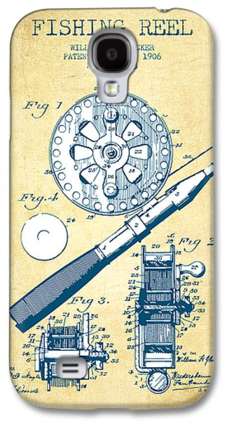 Reeling Galaxy S4 Cases - Fishing Reel Patent from 1906 - Vintage Paper Galaxy S4 Case by Aged Pixel