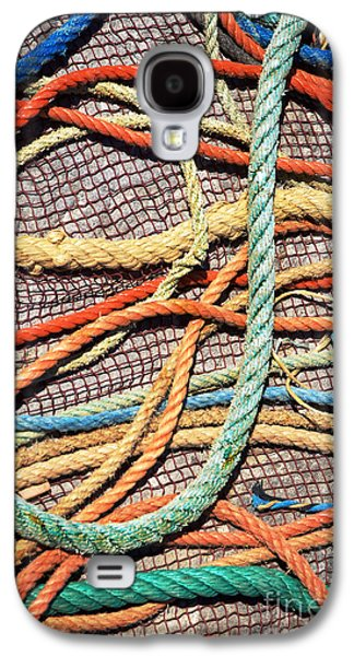 Mess Photographs Galaxy S4 Cases - Fishing Ropes and Net Galaxy S4 Case by Carlos Caetano