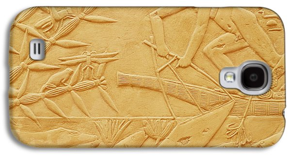 Papyrus Galaxy S4 Cases - Fishing Scene, From The Mastaba Of Kagemni, Old Kingdom Limestone Galaxy S4 Case by Egyptian 6th Dynasty