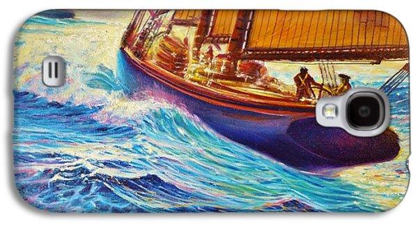 Slam Galaxy S4 Cases - Fishing the Grand Banks Galaxy S4 Case by Joseph   Ruff