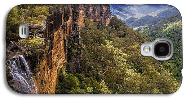 Green Foliage Galaxy S4 Cases - Fitzroy Falls in Kangaroo Valley Australia Galaxy S4 Case by David Smith