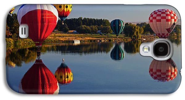 Hot Air Balloon Galaxy S4 Cases - Five Aloft Galaxy S4 Case by Mike  Dawson