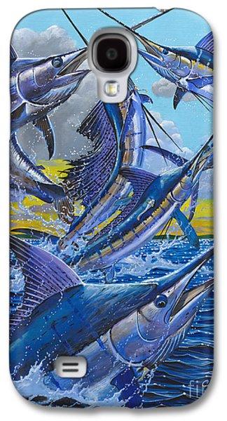 Slam Galaxy S4 Cases - Five Billfish Off00136 Galaxy S4 Case by Carey Chen
