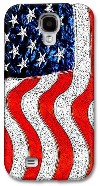 American Independance Galaxy S4 Cases - Flag Galaxy S4 Case by George Robinson