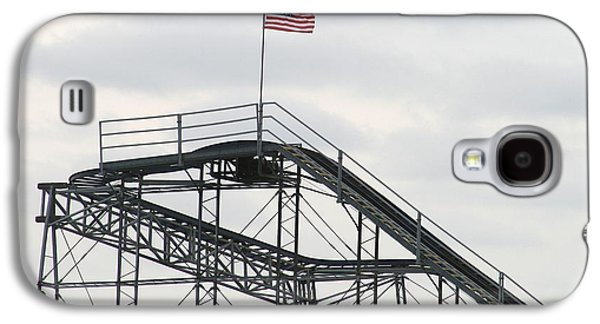 Flag Mounted On Seaside Heights Roller Coaster Galaxy S4 Case by Melinda Saminski