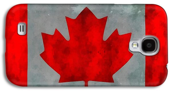 Montreal Paintings Galaxy S4 Cases - Flag Of Canada Galaxy S4 Case by Dan Sproul