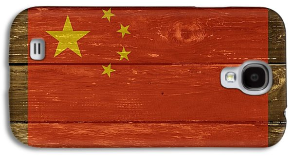 China Beach Galaxy S4 Cases - China National Flag on Wood Galaxy S4 Case by Movie Poster Prints
