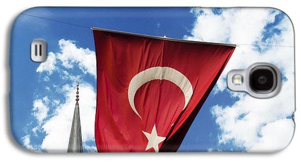 Landmarks Pyrography Galaxy S4 Cases - Flag of Turkey Galaxy S4 Case by Jelena Jovanovic