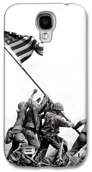 Flag Raising At Iwo Jima Galaxy S4 Case by Underwood Archives