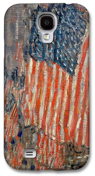 Stars And Stripes Paintings Galaxy S4 Cases - Flags on the Waldorf Galaxy S4 Case by Nomad Art And  Design