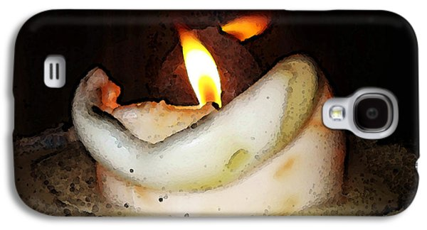 Flame Candle Art Galaxy S4 Case by Sharon Cummings