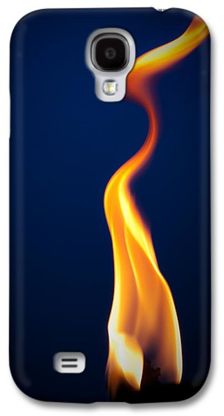 Yellow Pyrography Galaxy S4 Cases - Flame Galaxy S4 Case by Darryl Dalton