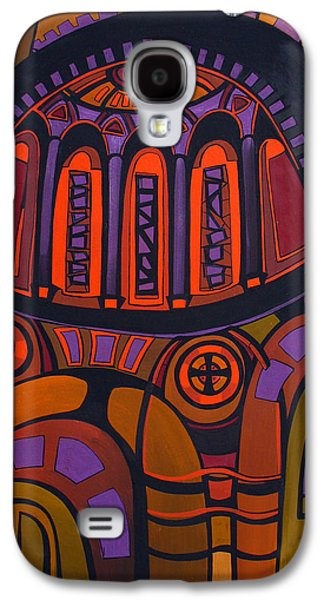 Mix Medium Drawings Galaxy S4 Cases - Flame Galaxy S4 Case by Deyana Deco
