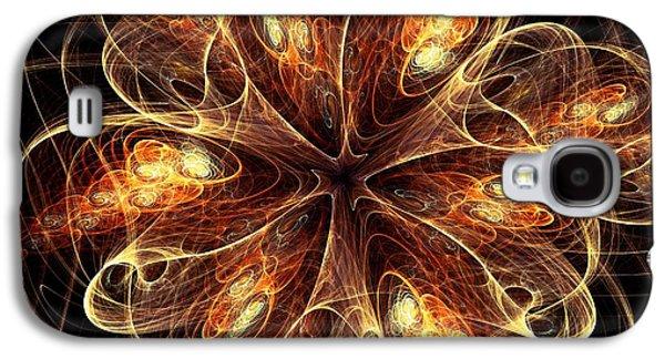 Petal Galaxy S4 Cases - Flame Flower Galaxy S4 Case by Anastasiya Malakhova