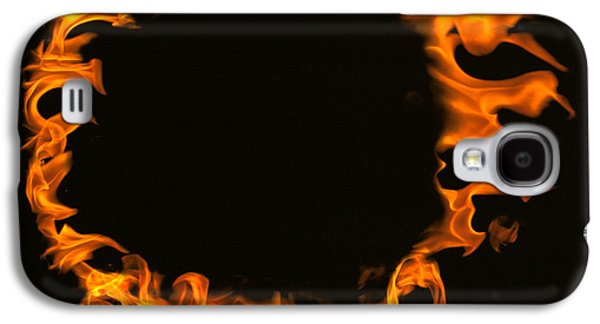 Studio Photography Galaxy S4 Cases - Flamed Circle On Black Background Galaxy S4 Case by Panoramic Images