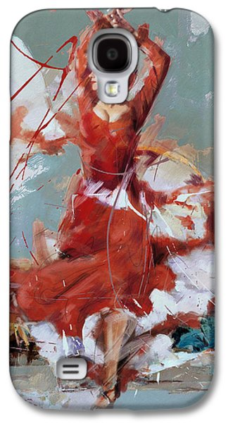 Furnishing Galaxy S4 Cases - Flamenco 55 Galaxy S4 Case by Maryam Mughal