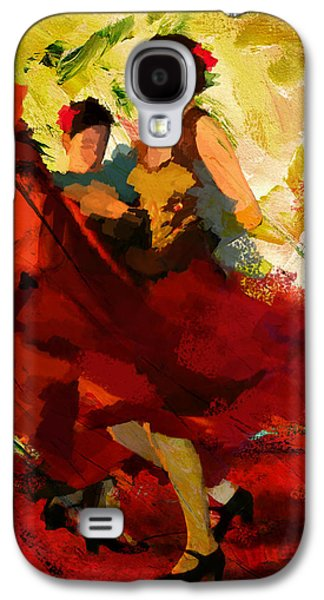 Expressionism Galaxy S4 Cases - Flamenco Dancer 019 Galaxy S4 Case by Catf