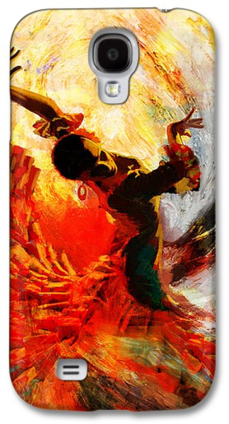Strength Galaxy S4 Cases - Flamenco Dancer 021 Galaxy S4 Case by Mahnoor Shah