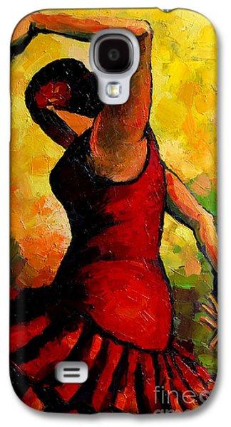 Green Galaxy S4 Cases - Flamenco Galaxy S4 Case by Mona Edulesco