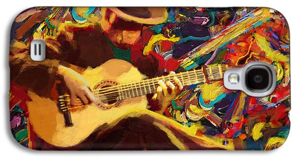 Corporate Task Art Force Galaxy S4 Cases - Flamenco Guitarist Galaxy S4 Case by Corporate Art Task Force