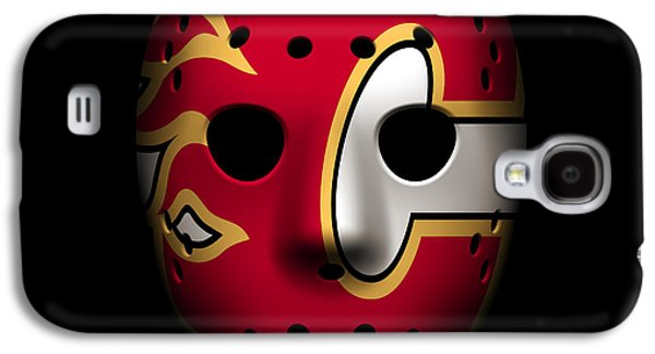 Flame Galaxy S4 Cases - Flames Goalie Mask Galaxy S4 Case by Joe Hamilton