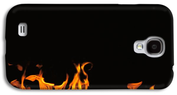 Studio Photography Galaxy S4 Cases - Flames On Black Background Galaxy S4 Case by Panoramic Images