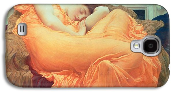 Pre-raphaelites Galaxy S4 Cases - Flaming June Galaxy S4 Case by Frederic Leighton