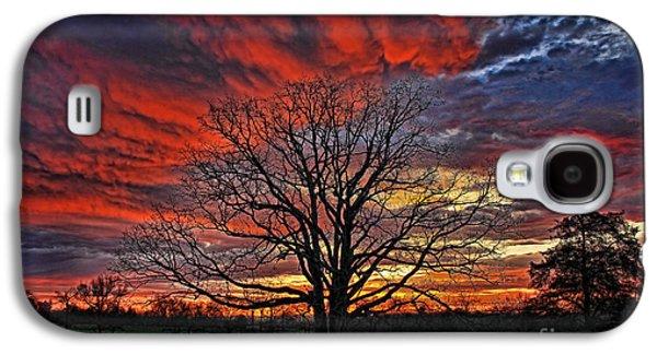 Flaming Oak Sunrise Galaxy S4 Case by Reid Callaway