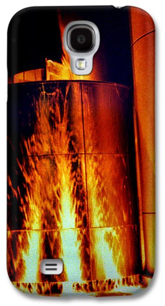 Evansville Galaxy S4 Cases - Flaming Water Tower Galaxy S4 Case by Jeff Lantz