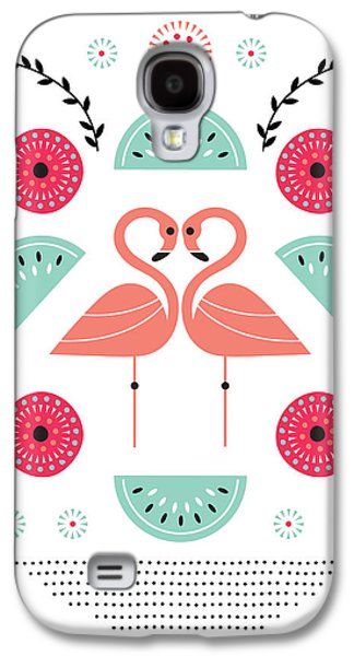 Flamingo Flutter Galaxy S4 Case by Susan Claire