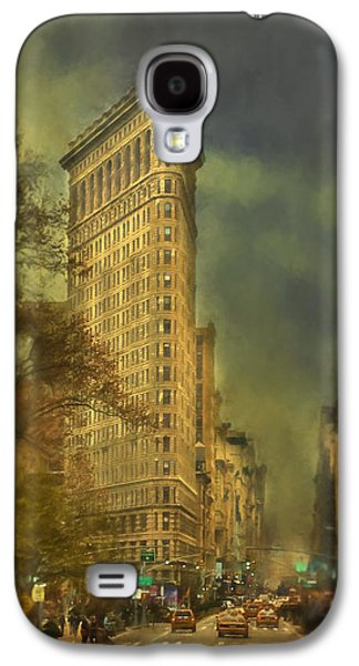 Flat Iron Galaxy S4 Cases - Flat Iron Building Galaxy S4 Case by Kathy Jennings